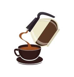 Delicious coffee drink isolated icon vector
