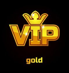 gold vip symbol set 1 vector image