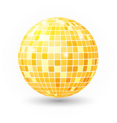 Disco ball isolated  night club party vector