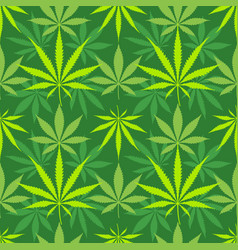 Cannabis marijuana leaves seamless pattern vector