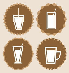 Set of coffee cup icon badges vector