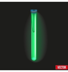Transparent test tube luminescent liquid vector
