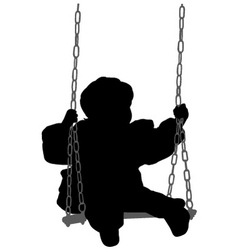 Child swinging vector