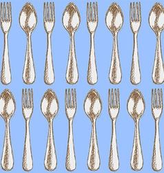 Sketch utencil in vintage style vector image