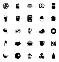 Easy meal icons on white background vector