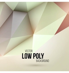 Low poly triangular background design element vector