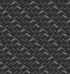Monochrome pattern with gray and black dotted sea vector