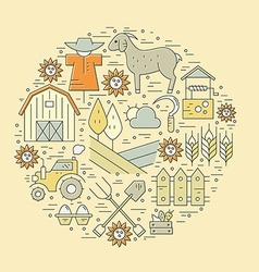 Farming Circle Concept vector image