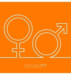 Stock linear icon male and female vector