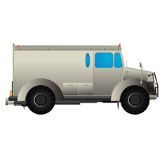 Armored car vector