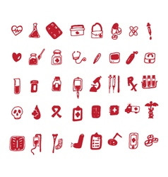 40 hand drawn medical icon vector