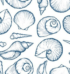 Seashell patterned background vector