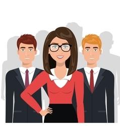 Elegant businesspeople isolated icon design vector