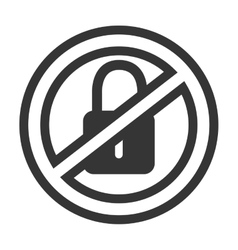 Security sign padlock isolated flat icon vector