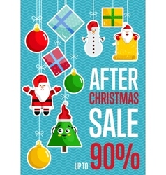 After Christmas Sale Concept vector image vector image
