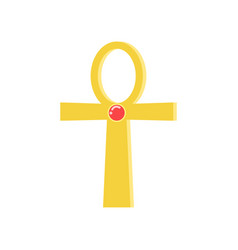 Ankh cross religious sign of the ancient egyptian vector