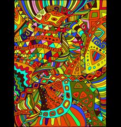 beautiful decorative psychedelic hippie vector image