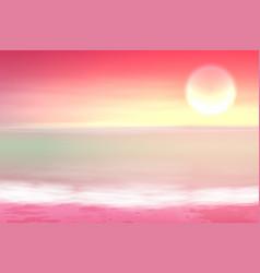 Beautiful purple sea sunset vector