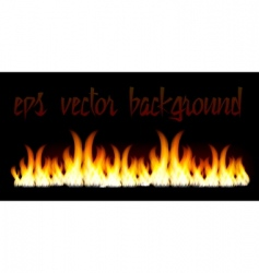 burn flame fire vector background vector image
