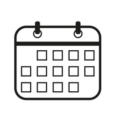calendar sign black icon on vector image vector image