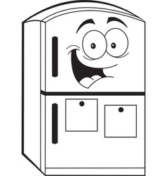 Cartoon refrigerator vector