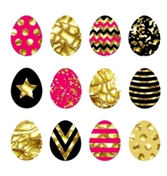 Collection with easter eggs vector