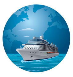 Cruise ship travel vector