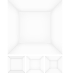Empty room template vector image vector image