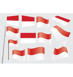 flag of Indonesia vector image vector image