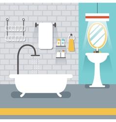 Furniture display in room bathroom vector