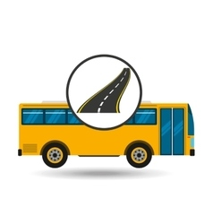 Highway bus transport public vector