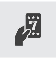 Lucky card icon vector