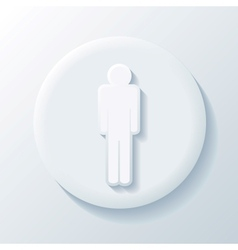 Man 3D Paper Icon vector image