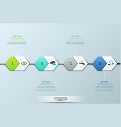modern infographic design template four vector image vector image