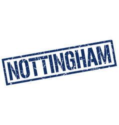 Nottingham blue square stamp vector