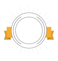 seal stamp ribbon label design vector image vector image