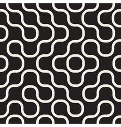 Seamless Black And White Irregular Wavy vector image vector image