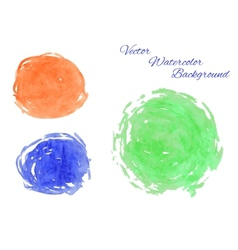 Set of abstract watercolor hand drawn vector image vector image