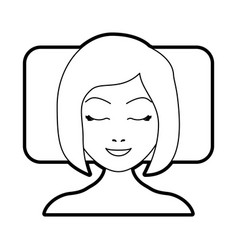 Sleeping woman avatar icon vector