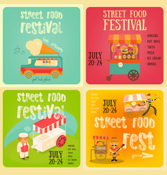 street food festival vector image