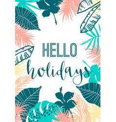 Summer tropical design template design vector