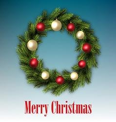Traditional christmas wreath vector