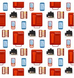 vintage phones retro lod telephone seamless vector image