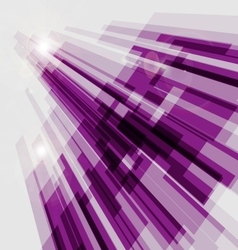 Perspective violet abstract straight lines vector