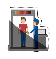 Passenger and security checkpoint design vector