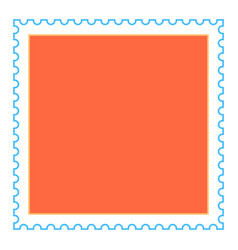 Empty square postage stamp vector