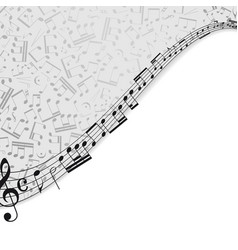 Notes musical background vector