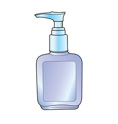 Lotion pump bottle vector