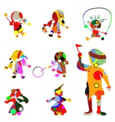chidren silhouettes vector image