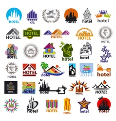 Biggest collection of logos hotels for leisure vector
